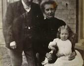 Antique Photo Postcard - Family Photograph