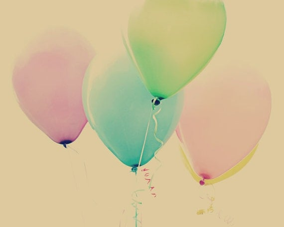 Ballon print kinderzimmer kunst mädchen pastell von theginghamowl