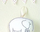 Elephant Christmas Ornament - Reserved for Carolyn - Baby's First Christmas