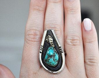 Large Vintage Turquoise Ring