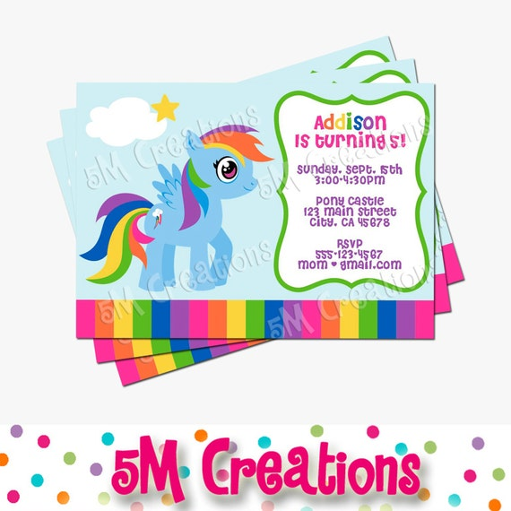 My Little Pony Custom Invitations is amazing invitation design