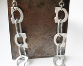 Long Dangle Super Lightweight Earrings, Aluminium and Zinc Steel, Hypo-Allergenic Surgical Steel, Eco Friendly, Recycled
