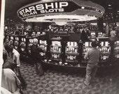 Vintage Stardust Casino Starship Dollar Slot Machines Real Photograph