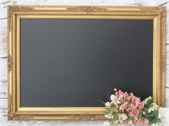 Large Gold Framed Chalkboard For Sale Dining By Revivedvintage