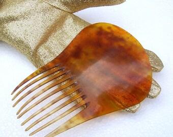 Antique hair comb early American steer horn Spanish comb hair pin hair pick hair accessory hair ornament hair jewelry headdress