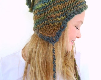 Popular items for green knit hat on Etsy