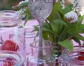 Vintage Silverware Wedding Reception Table Numbers Wedding Decor Placecard as seen on Style Me Pretty