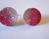 Ombre Pink Rhinestone Earrings