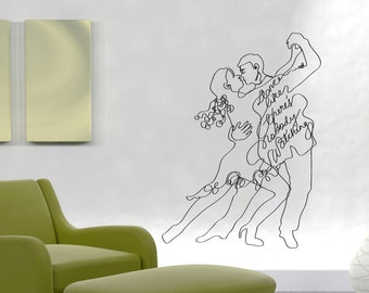 Vinyl Wall Decal Sticker Dance Nobody Watching OSDC657s