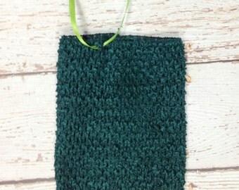 "8"" Crochet Tutu Tube Top - Hunter"