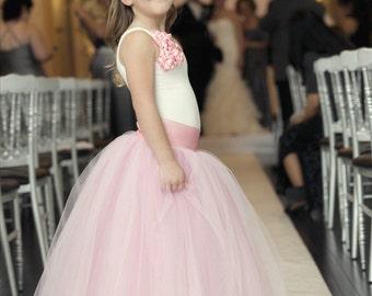 dusty rose tutu, pink dress, flower girl dress, tulle skirt, tutu
