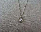 Crystal Quartz & Sterling Silver delicate necklace