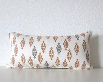 Dwell Studio Boteh Camel - 8x16 - mini lumbar pillow cover