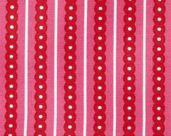 Sprout & Spell Fuchsia Stripes - Robert Kaufman Fabrics