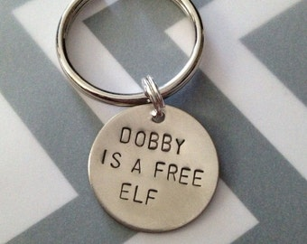 Dobby is a Free Elf - Keychain, Necklace, Gift, Geek, Harry Potter Inspired