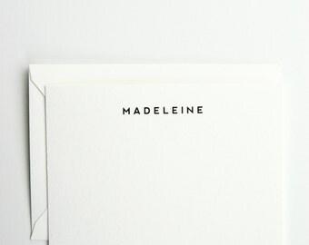 Madeleine - Personalized Letterpress Stationery