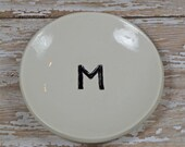 personalized ring dish with initial, custom made to order