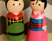 Mulan and Shang Large Peg Set