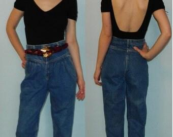 vintage 80s 90s high waisted waist jeans 25 inch waist