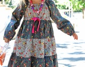 Astra Peasant Dress Pattern + Free Mother-Daughter Apron Pattern, Childrens SEWING PATTERNS 12m 12y Instant download pdf, toddler, baby