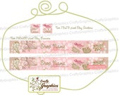 Folksie Pink Bird - Two Etsy Banners and Two Etsy Avatars