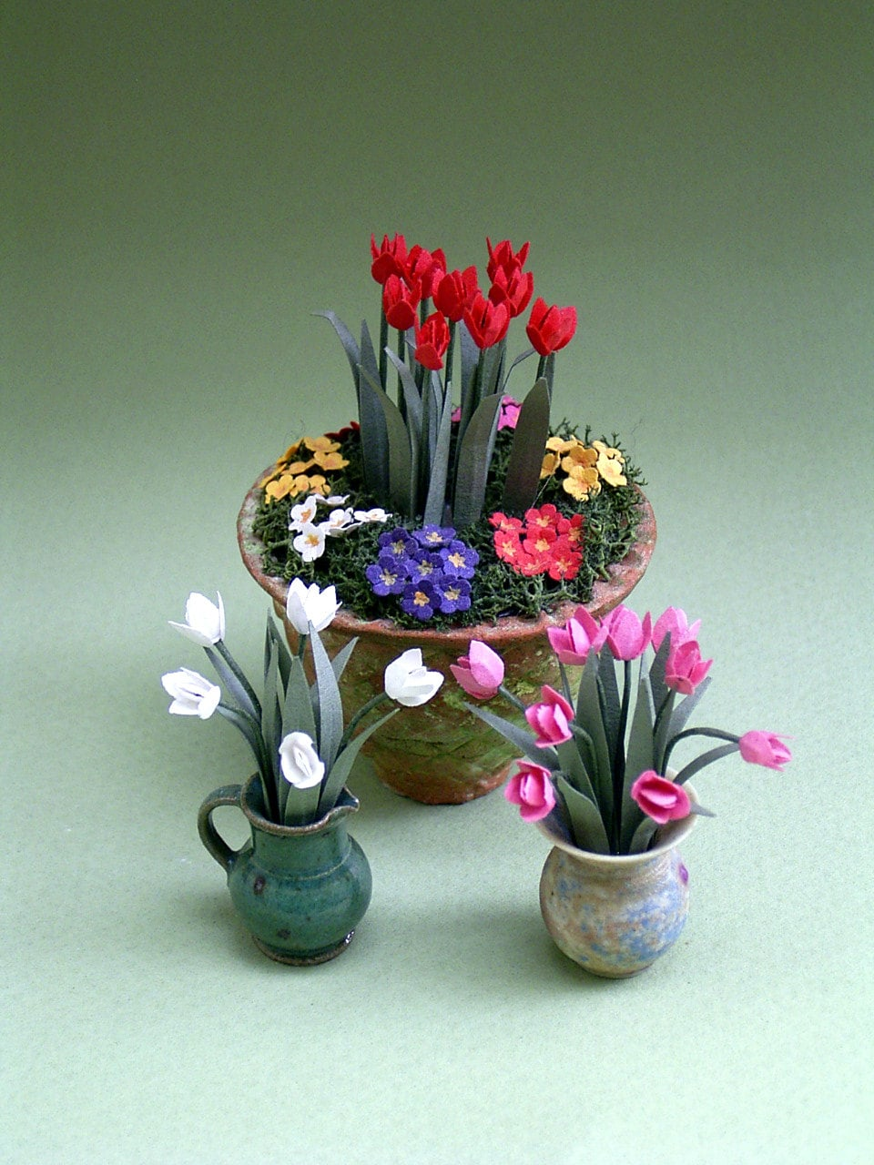 Tulips Paper Flower Kit For 1 12th Scale Dollhouses Florists