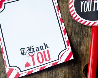 Pirate Party PRINTABLE Thank You Cards (INSTANT DOWNLOAD) by Love The Day