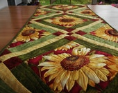 Sunflower Garden Quilted Table Runner