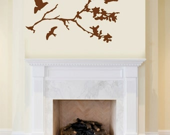 Flying Birds Tree Branch Wall Decor