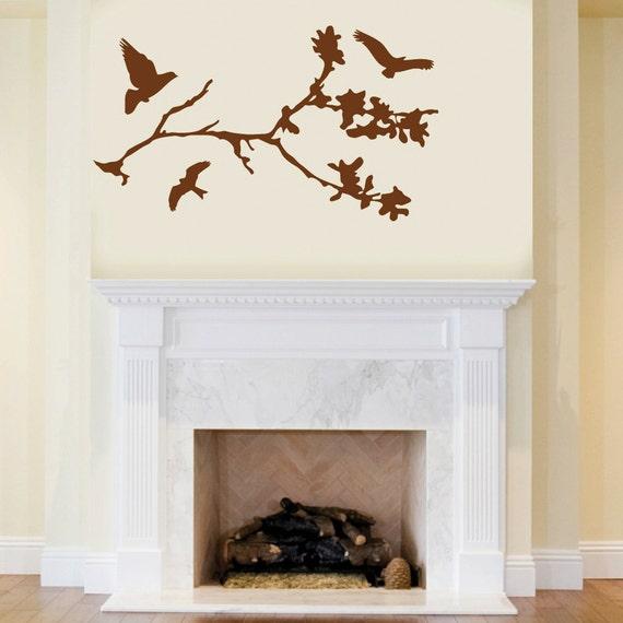 Flying Birds Tree Branch Wall Decor