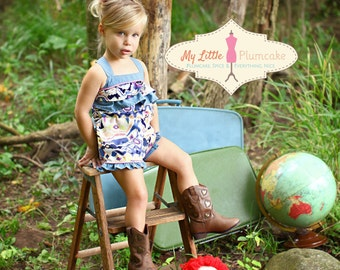 Piper Summer Romper - PDF Sewing Pattern, Instant Download, Girl Romper Pattern