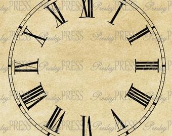 antique clock face without hands, d igital download, vintage image ...