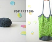 PDF Pattern. Crochet foldable market bag.