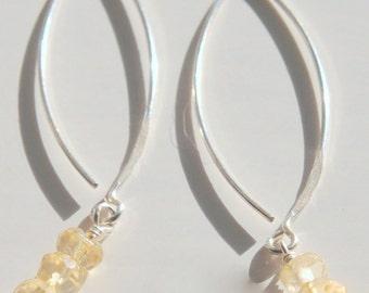 Citrine Dangle Earrings, Bridal Jewelry