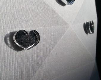 Mirrored Heart Neodymium Magnets