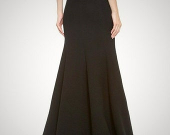 Floor length maxi skirt, Paneled skirt,  Mermaid silhouette high quality tailor made, High fashion ,plus size Custom order many colors
