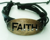 Mens Christian Jewelry Bracelet Leather Guy Gift for Man Teen Boy Girl Women Gift Birthday - B15