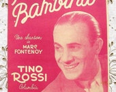 Vintage French 1950's Song / Sheet Music - Baby Girl (Piccina Bambina) Tino Rossi