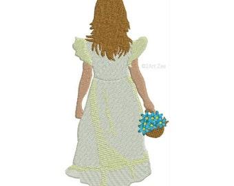Flower Girl  Machine Embroidery Design Wedding Children