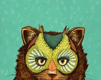 OwlCat // Signed A4 print