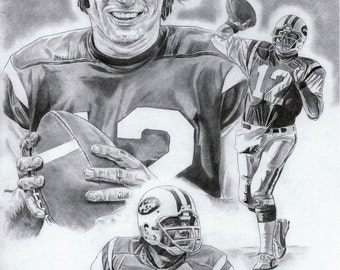 N.Y. Jets Joe Namath Art Poster
