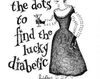 Connect the Diabetic Dots - Pen & Ink Illustration