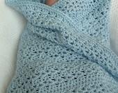 Crochet Baby Blanket Soft Blue Boy