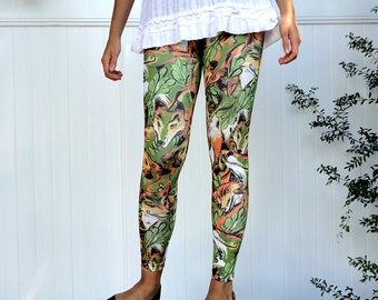 Woodland Fox Print Leggings
