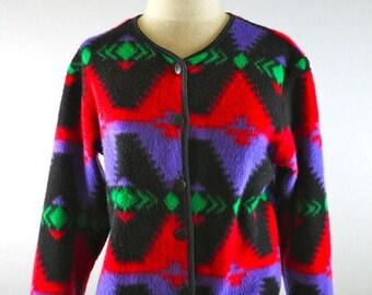 Bright Colorful Southwestern Cropped Jacket