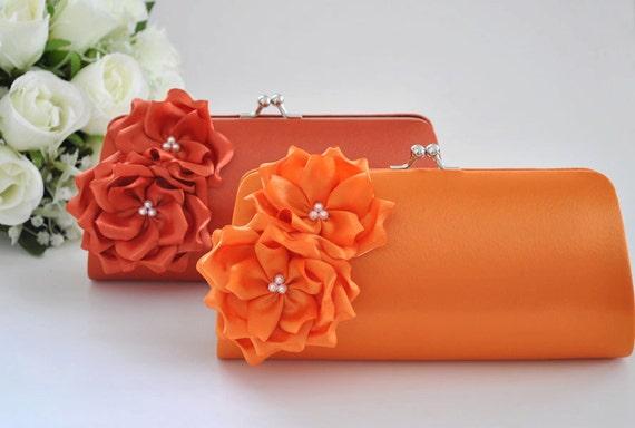 Orange Bridesmaid Clutch