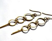 CIRCLIP FOUNTAIN Industrial Chic EARRINGS No.7 and No.7.b