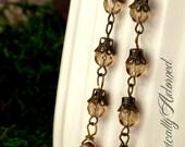 LAST CHANCE Clearance item 50% Off Raspberry Dangle Earrings