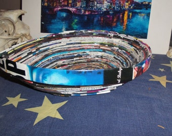 Tear Drop Recycled Magazine Bowl