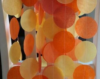 Tissue Paper Garland, Party Garland, Birthday Garland, Wedding Garland, Sunset Garland- Sunset Hues